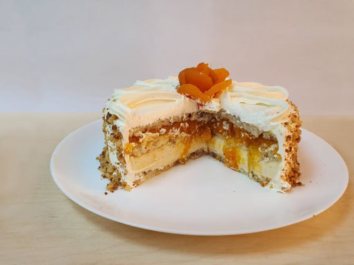 Comidas afrodisiacas - torta de nozes com damasco